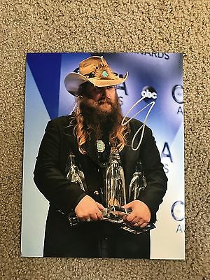 Chris Stapleton Autographed 11x14 Photo Country Musicain Traveller Cma's Acm's Entertainment Memorabilia