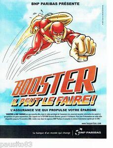 PUBLICITE ADVERTISING 116  2002  BNP Paribas banque   Booster