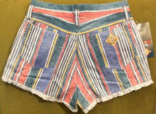 Vintage Kids CAMPTOWN CLUB HOT PANTS Striped SHORTS Size 7//8 Juniors 20 Waist