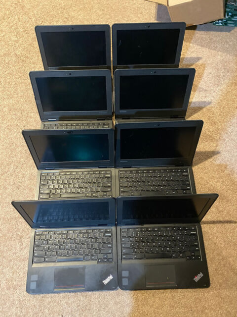 Lot of 8 Lenovo ThinkPad Chromebook 11e 1.83Ghz 4GB 16GB SSD parts / repair only