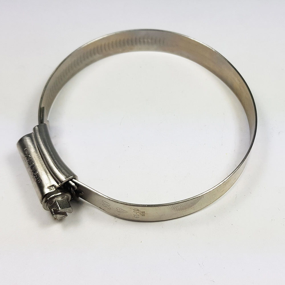 Stainless Steel Hose Clips Jubilee Clip 60mm-80mm JCS Hi-Grip 3X Tubing Worm