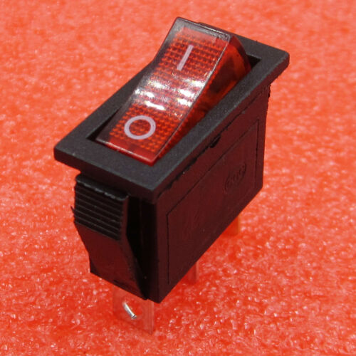 5PCS KCD3-102N 3 feet 2 files Red Lamp power switch 15A Ship type switch