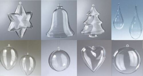 Choice of Sizes//Designs Clear Plastic Shapes Great for Making Decorations