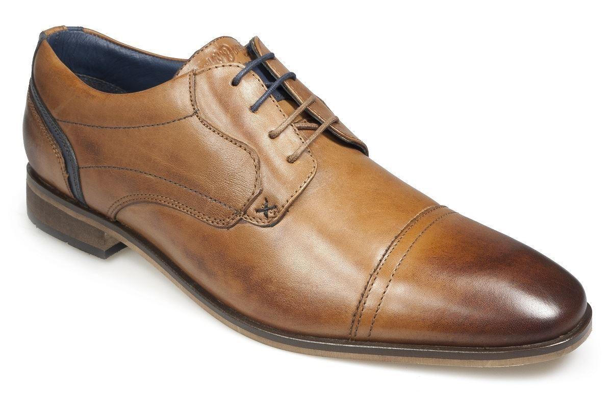 Paul O'Donnell Herren Geschnürte Formelle Schuhe -IOWA cognac Größen