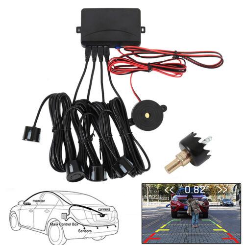LED Display Car 4 Parking Sensor Reverse Backup Radar Alarm System Black Kit US