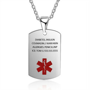 Personalized-Tag-Necklace-Custom-Symbol-Medical-Alert-ID-Stainless-Steel-Pendant