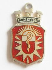 Bad Nenndorf, Germany    vintage Silver and enamel Shield Travel Charm
