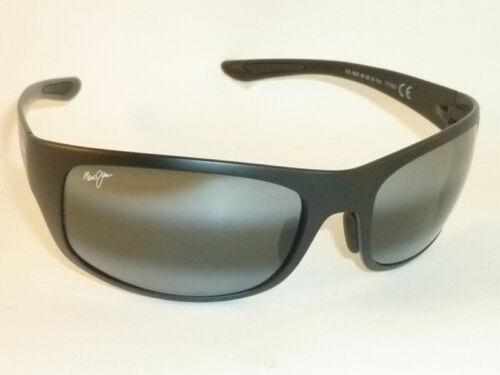 New Authentic Polarized MAUI JIM  BIG WAVE  Sunglasses 440-2M  Matte Black Frame