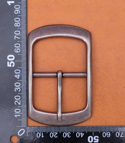 Argent Massif Centre Bar Boucle De Ceinture Pour Ceinture En Cuir Remplacement fit 40 mm bracelet
