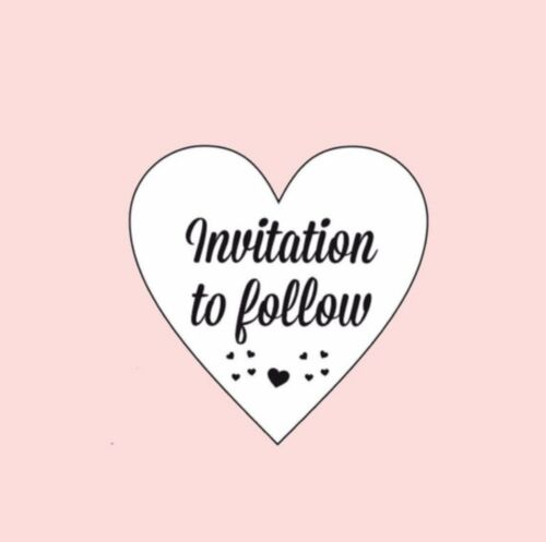 35x Invitation To Follow Wedding Invtation Heart 30mm Stickers Seals Labels 057