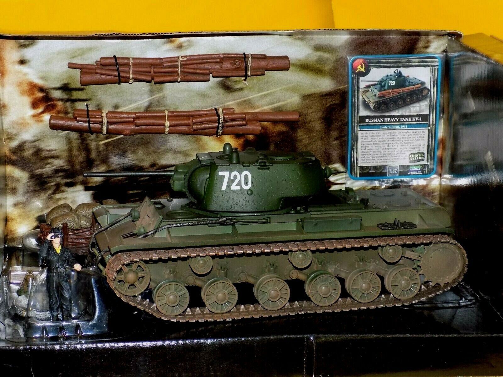 Russia KV-1 HEAVY  Tank Weiß 720 Eastern Front WWII FORCES OF VALOR 80056 1 32
