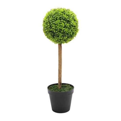 Artificial Topiary Ball Tree Garden Outdoor Boxwood Cone//Bay Palm// Swirl Potted