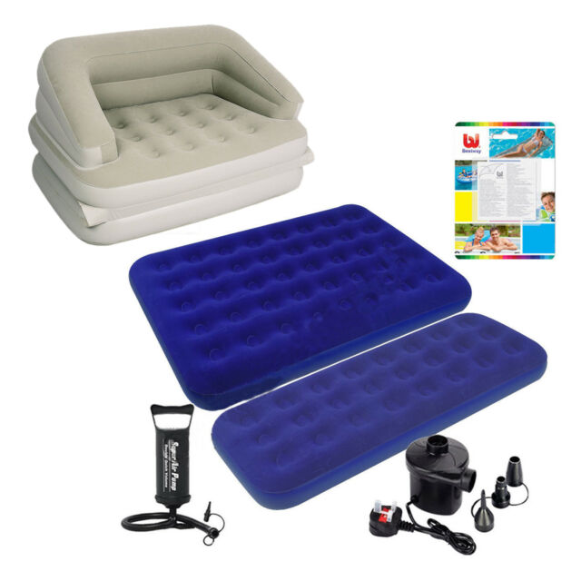 Swell Inflatable Single Double Flocked Air Bed Camping Airbed Mattress Pump Repair Kit Ibusinesslaw Wood Chair Design Ideas Ibusinesslaworg