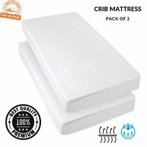 Nursery Baby Mattress cot Crib Size 89 x 40 x 4 cm Breathable Quilted and Waterproof Foam Mattress for cot Crib Cradle