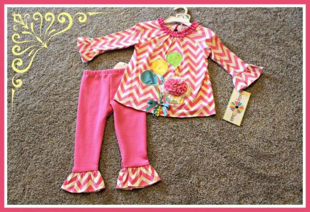 Counting Daisies Birthday Set Rare Editions Outfit Baby Girl 18 24 month NWT $48