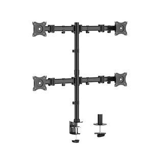 Quad-Monitor-Schwenkarm-Tisch-Halterung-Halter-Bildschirm-Staender-4-x-8KG