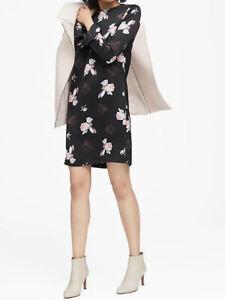 NWT-Banana-Republic-New-139-Women-Floral-Ruffle-Cuff-Dress-Size-00P-0P-0-2P-2