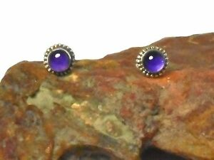 AMETHYST-Sterling-Silver-925-Gemstone-Earrings-STUDS-5-mm