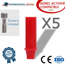5 Plastic Castable Abutment With Hex Rp Nobel Biocare Active Dental Implant
