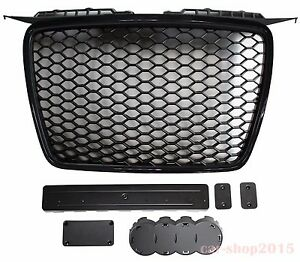 black grille rs look for audi a3 8p 2005 2008 ebay. Black Bedroom Furniture Sets. Home Design Ideas