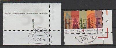 Briefmarken 2525 O M.eckrand Sonderabschnitt V3648 Brd Minr 2510 Deutschland Ab 1945
