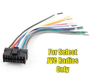 car stereo radio replacement wire harness plug for select jvc 16 pin rh ebay com Cadillac Wire Harness Wire Harness Assembly Boards