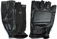 2XL MENS SOLID LEATHER POLICE STYLE SWAT TACTICAL MOTORCYCLE GLOVES RK-1021