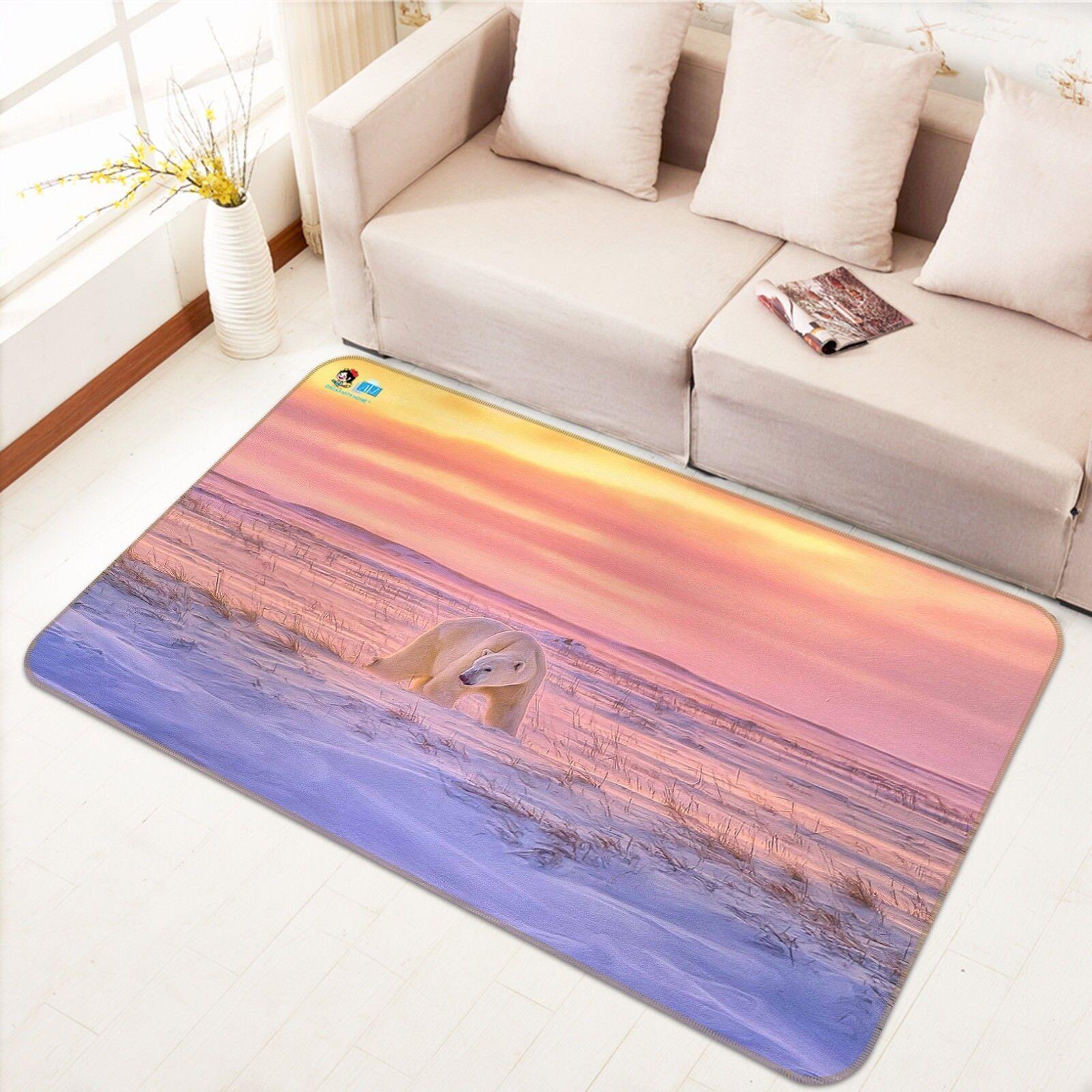 3d oso ártico 44 antideslizante alfombra de maletero calidad elegante alfombra de