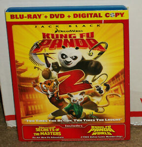 Kung Fu Panda 2 Blu Ray Dvd With Slipcover 97361456942 Ebay
