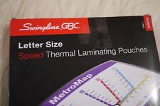 100 Pack 5 mil 3200716 Swingline GBC EZUse Thermal Laminating Pouches Speed Pouch Letter Size