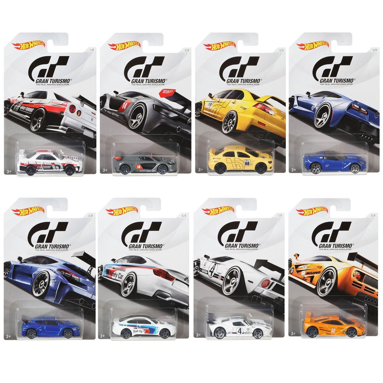 Hot Wheels 1 64 Gt Gran Turismo Completo Conjunto de 8 Coches - FKF26