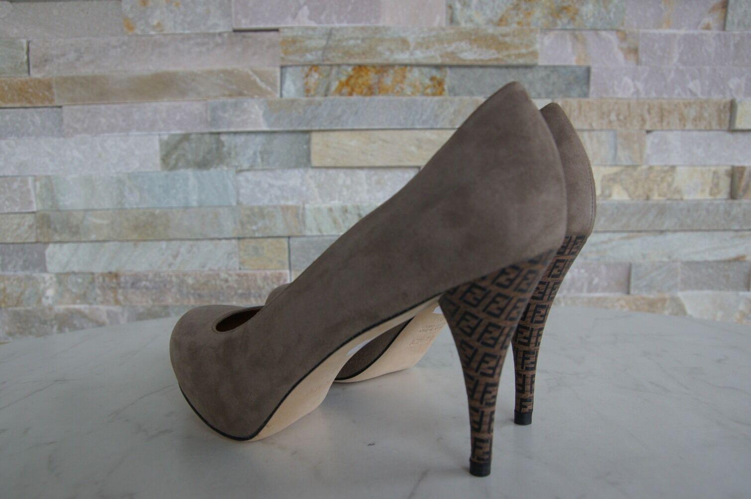 Luxus FENDI Gr Decollete 36 Plateau Pumps Schuhe 8I3697 Decollete Gr schlamm NEU 5a10f6