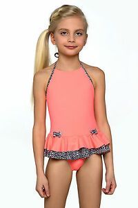 New Little Girls Sport Swimming Costume Swimwear Swimsuit Kids Age ...
