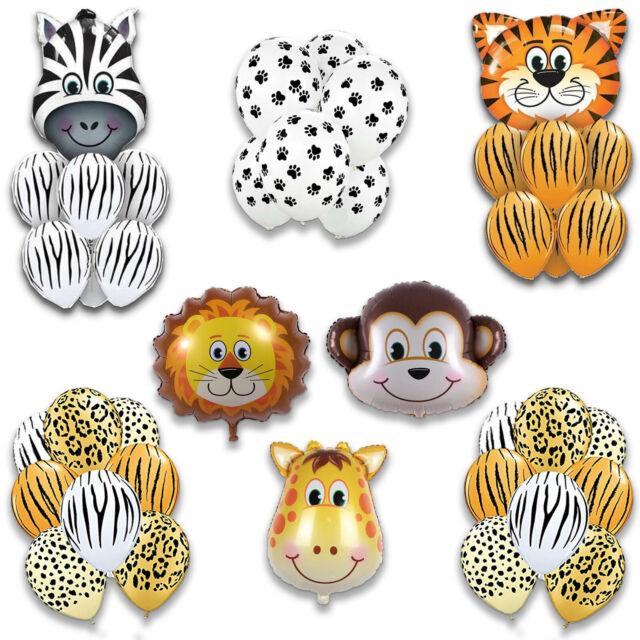 Animal Foil Balloons Helium Safari Jungle Baby Shower Birthday Party Decor New