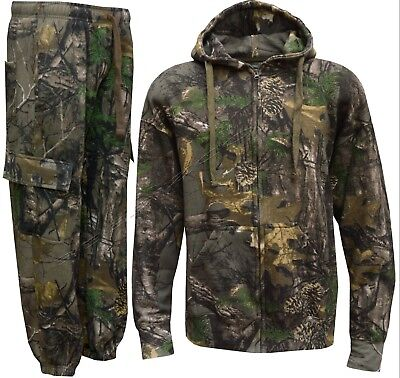 Camouflage Tracksuit Camo Mens Joggers Hoody Fishing Hunting Shooting Real Tree