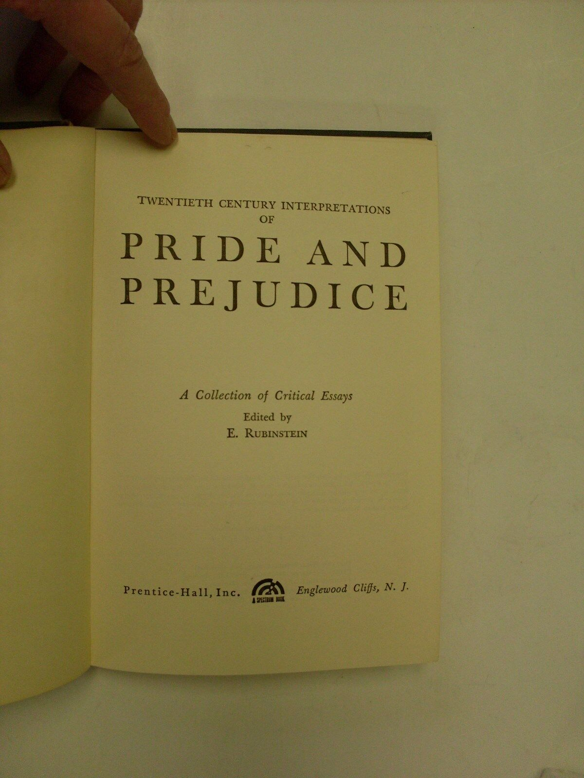 Essay Papers Online Twentieth Century Interpretations Of Pride And Prejudice  A Collection  Of Critical Essays By E Rubinstein  Hardcover  Ebay English As A Second Language Essay also Apa Format Sample Paper Essay Twentieth Century Interpretations Of Pride And Prejudice  A  What Is A Synthesis Essay