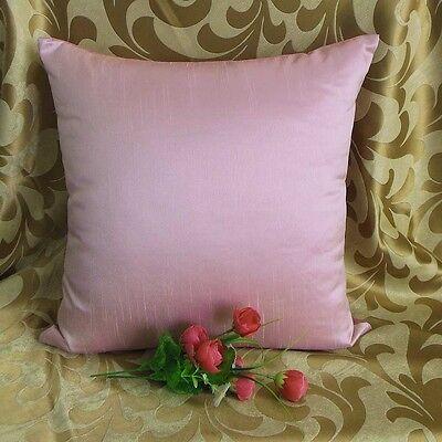 Stiff Tulip Pink Faux Dupioni Silk Taffeta Cushion Cover Case #stfcc-148