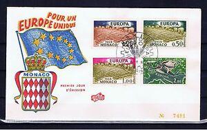 MONACO-Europa-CEPT-1962-FDC