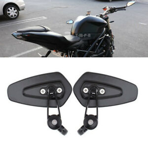 HTT Gold Motorcycle CNC Aluminum Rearview 7//8Handle Bar End Side Mirror 3 Round
