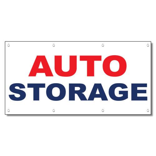 Auto Storage Red Blue Auto Car Repair Shop Vinyl Banner Sign With Grommets