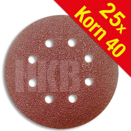 K40 25 X Schleifscheiben Klett-Befestigung Korund 181631 ø=125mm 8-Loch