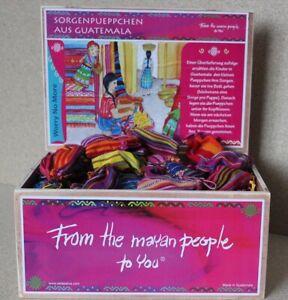 6-Sorgenpueppchen-SorgenpuppeTrostpuppe-Fair-Trade-Maja-Worry-Dolls-Guatemala