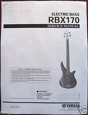 Yamaha RBX170 Electric Bass Guitar Service Manual and Parts List Booklet