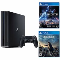 Sony PlayStation 4 Pro 1TB Gaming Console + Star Wars Battlefront II for PS4 + Star Wars Battlefront II for PS4 + Final Fantasy XV for PS4