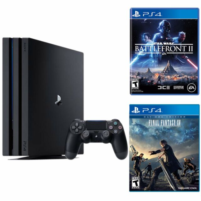 Playstation 4 Pro 1TB Console +  Star War Battle Front 2 + Final Fantasy XV