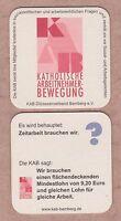 Werbe - BD , Bierdeckel , Coaster , KATHOLISCHE ARBEITNEHMER BEWEGUNG , Bamberg