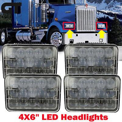 2Pcs 4x6 LED Headlights for Kenworth T400 T600 T800 W900L W900B Classic 120//132
