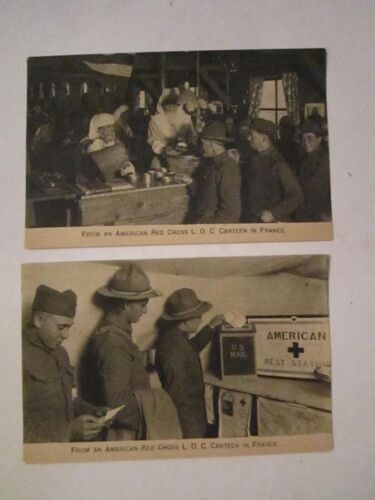 9 WWI POSTCARDS PUBLISHED BY THE AMERICAN RED CROSS UNUSED TUB BBA6