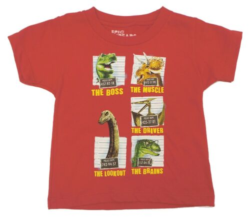 Epic Threads Red Short Sleeve Dinosaur Youth Boys/' T-Shirt Kids 7