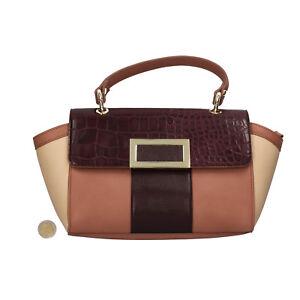 accessori donna OLTRE borsa pelle sintetica beige viola rosa AR444-S